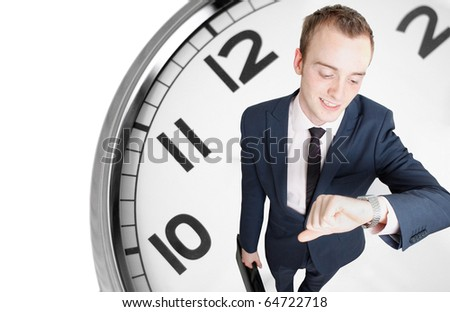 Businessman deadline