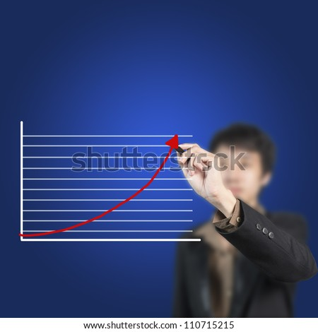 businessman drawing a chart business concept on whiteboard