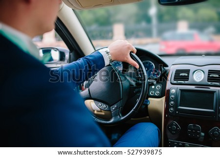 businessman driving