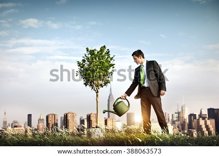 Businessman Entrepreneur Profit Beginning Concept