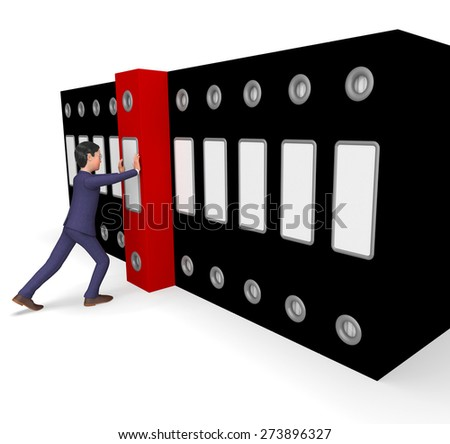 Businessman Filing Representing File Organized And Professional
