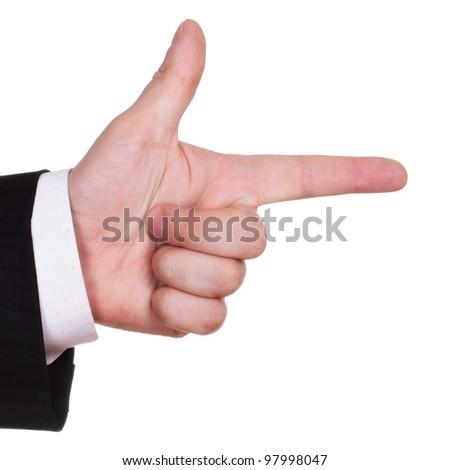 businessman finger show course