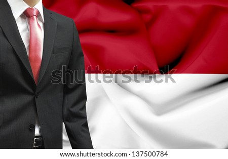 Businessman from Indonesia conceptual image