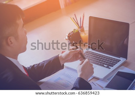 Businessman get ideas to increase turnover. - Shutterstock ID 636859423