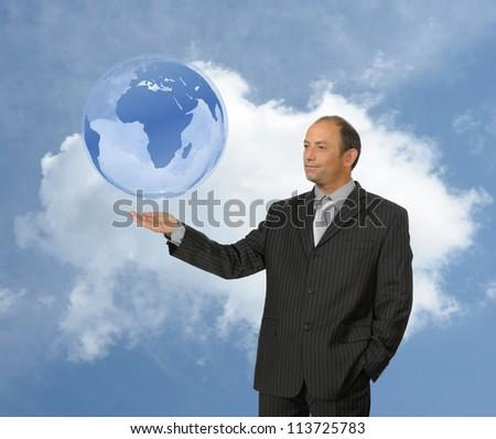 Businessman global concept