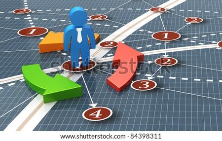 Businessman global network