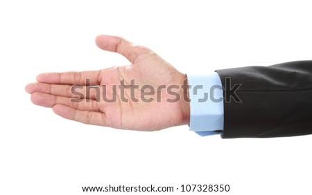 businessman hand asking for handshake