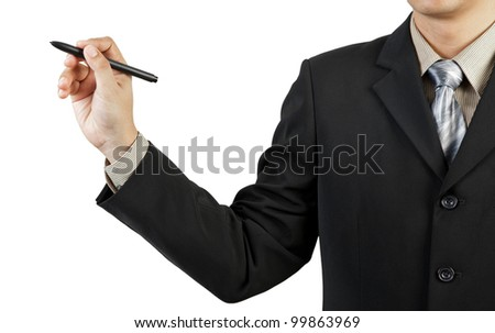 businessman hand drawing