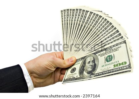 Businessman Hand Holding Money