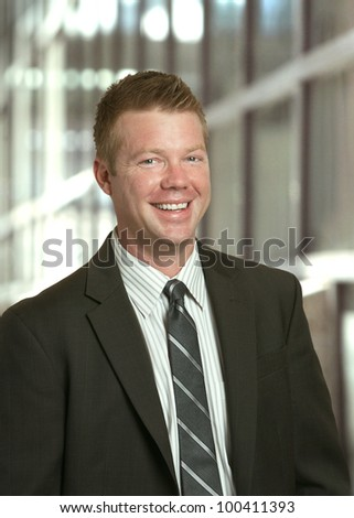 Businessman handsome laughing smiling man