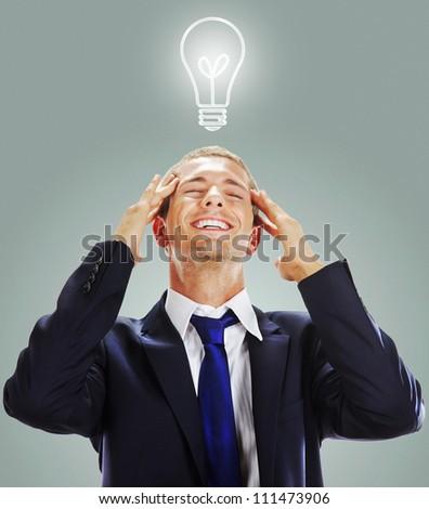 Businessman having an idea