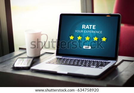Businessman holding five star rating  Review increase rating or ranking, evaluation and classification concept #634758920