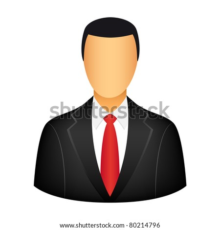 Businessman icon. Vector available.