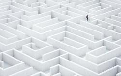 Businessman in a maze