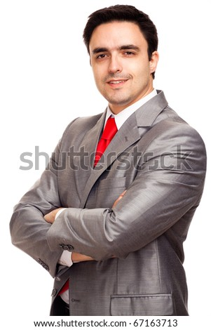 Businessman in a suit - stock photo
