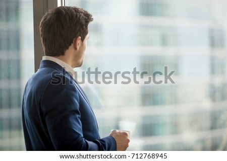 businessman in blue business...