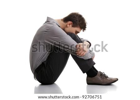 Businessman in depression