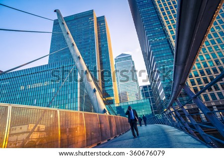 Businessman in financial district #360676079