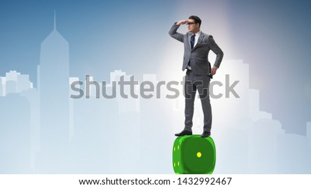 Businessman in forecasting business concept #1432992467