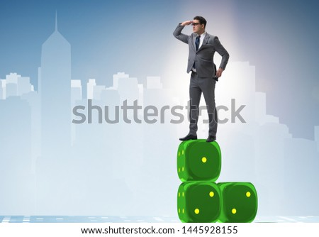 Businessman in forecasting business concept #1445928155