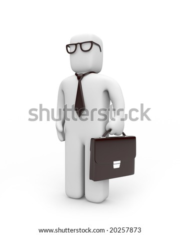Businessman in glasses