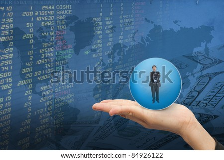 businessman in hand women and the stock trades.