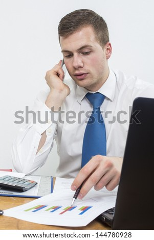 Businessman in office