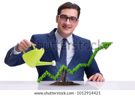 Businessman in responsible ecological business #1012914421