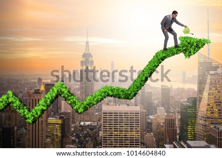 Businessman in responsible ecological business #1014604840