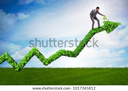 Businessman in responsible ecological business #1017365812