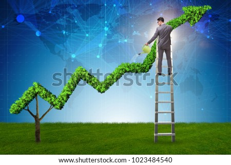 Businessman in responsible ecological business #1023484540
