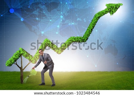 Businessman in responsible ecological business #1023484546