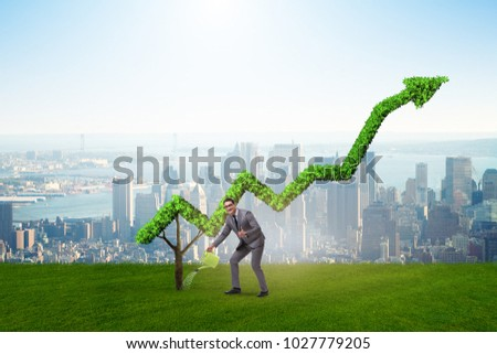 Businessman in responsible ecological business #1027779205