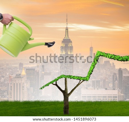 Businessman in responsible ecological business #1451896073