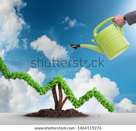 Businessman in responsible ecological business #1464119276