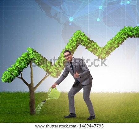 Businessman in responsible ecological business #1469447795