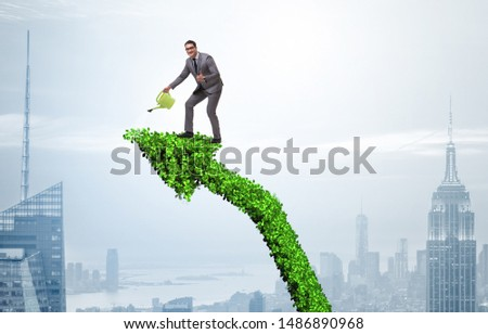 Businessman in responsible ecological business #1486890968