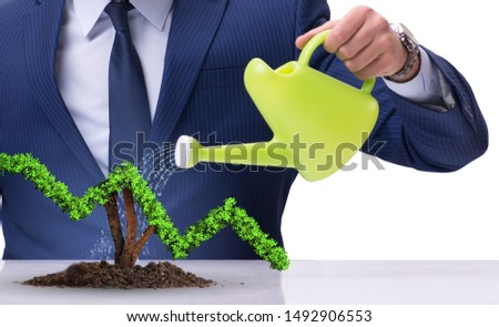 Businessman in responsible ecological business #1492906553