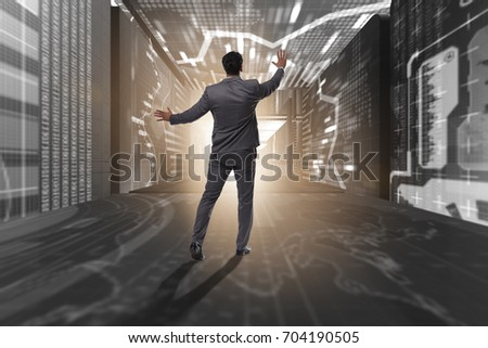 Businessman in trading business concept #704190505