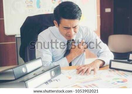 Businessman is heart disease.