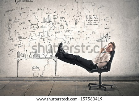 businessman is resting at work #157563419
