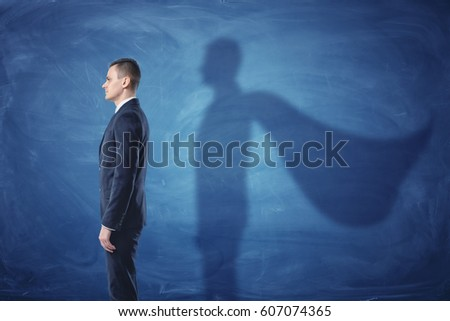 businessman is standing in...