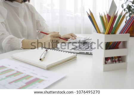 8ec45179c2f1 Businessman is workingBusiness Performance Review Work in the office Working  document  1076495270