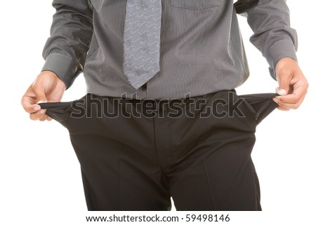 Businessman isolate on white