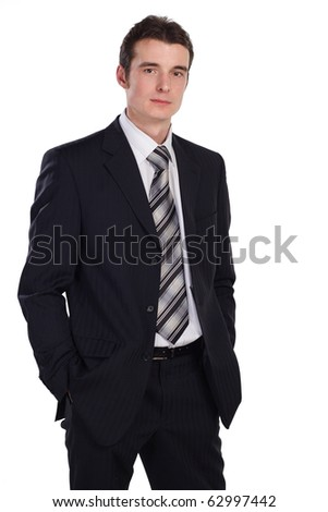 businessman isolated on white. More images of this models you can find in my portfolio