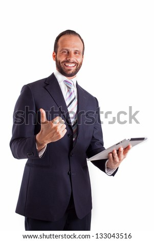 businessman Isolated over white background