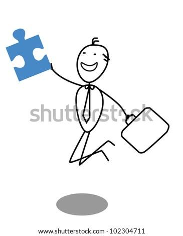 businessman & Jigsaw Doodle