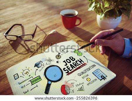 Businessman Job Search Designer Office Working Concept