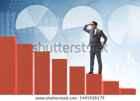 Businessman looking far in economic forecasting concept #1445928179