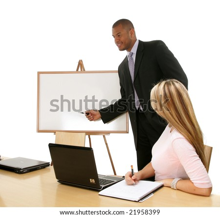Businessman making a presentation.